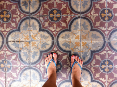 Lovely tiles along Penang Street