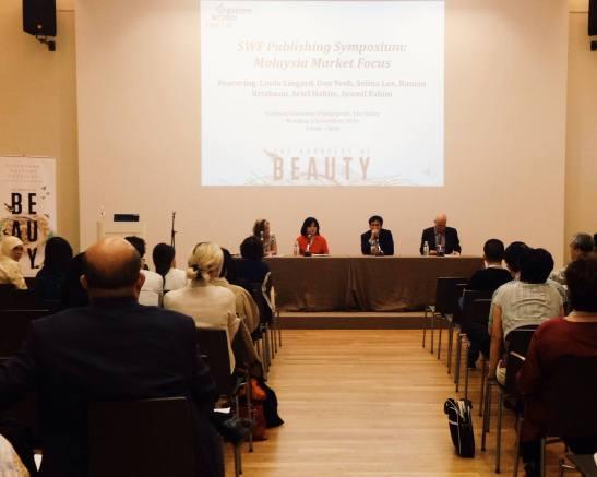 At the Singapore Writer's Festival (SWF) Publishing Symposium, Malaysia Market Focus. National Museum of Singapore, 2014.