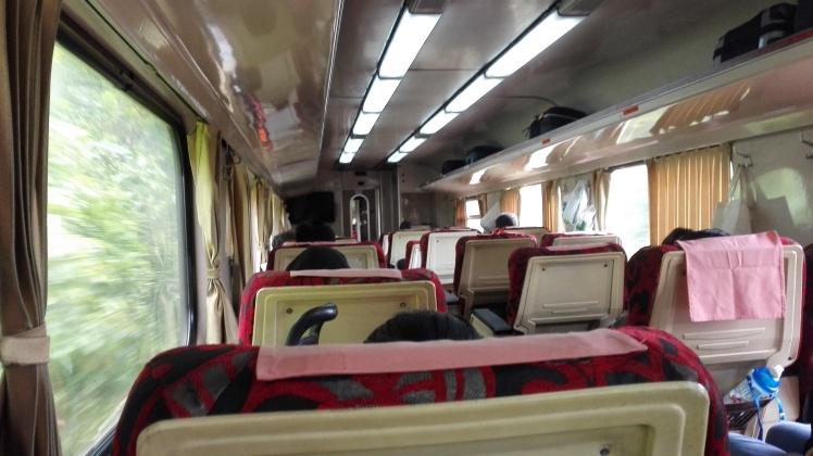 First class carriage on board the KTM's Rakyat Express (Woodlands - Butterworth)