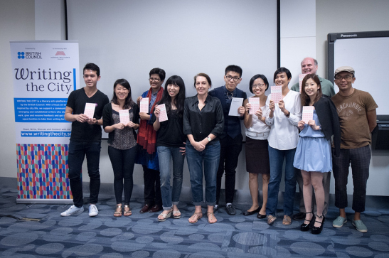 "Writers at the ""Fresh Fiction from Singapore"" book launch (Photo courtesy of the British Council Singapore)"