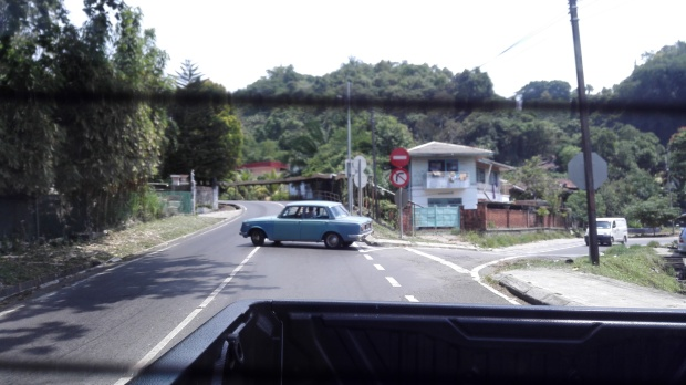 Sandakan, Sabah - one of my best shots of the old town, taken from the back of a Chevrolet pick-up.